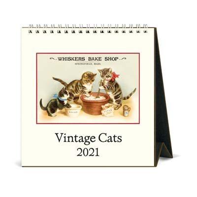 Cavallini Cats Desk Calendar 2021