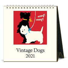 Cavallini Dogs Desk Calendar 2021